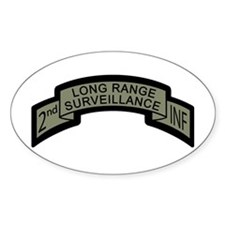 2nd INF Long Range Surveillan Oval Decal