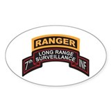 7th INF LRS Scroll with Range Oval Decal