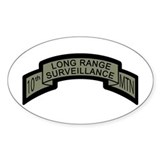 10th MTN Long Range Surveilla Oval  Aufkleber
