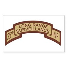 25th INF LRS Scroll Desert Rectangle Decal