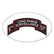 E Co 51st Infantry LRS Scroll Oval Decal