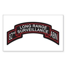 82nd Airborne LRS Scroll, Clr Rectangle Decal