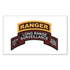 101st ABN LRS Scroll with Ran Rectangle Decal