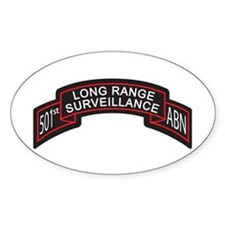 501st Airborne LRS Scroll Oval Decal