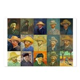 van Gogh Self Portraits Montage Postcards (Package