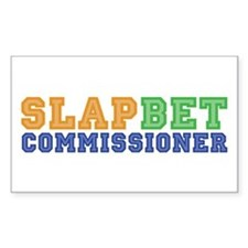 Slap Bet Commissioner Rectangle Decal