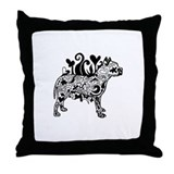 Tattoo Pit Throw Pillow