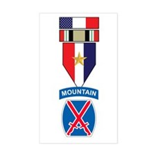 10th MTN Iraq War Campaign Rectangle Decal