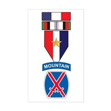10th Mtn Div Afghanistan CampaiRectangle Decal