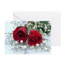 Red Roses Blank Note Cards (Pk of 10)
