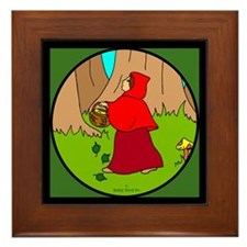 Red Riding Hood Framed Tile