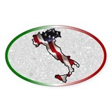 Italian American Oval Decal