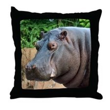 Hippo Two Throw Pillow