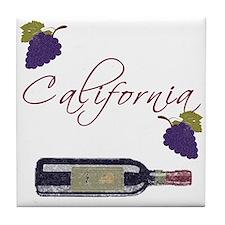 California Wine Tile Coaster