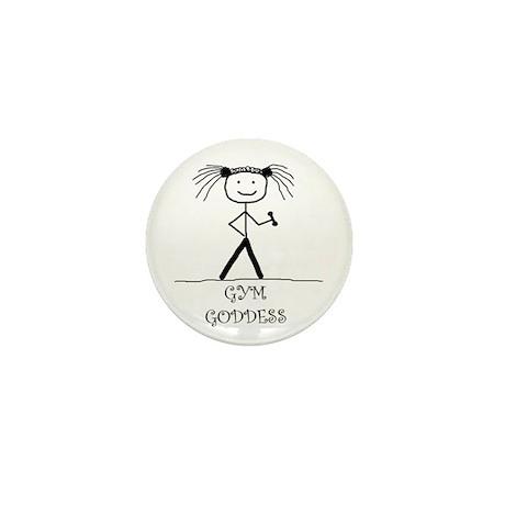 Gym Goddess: Mini Button