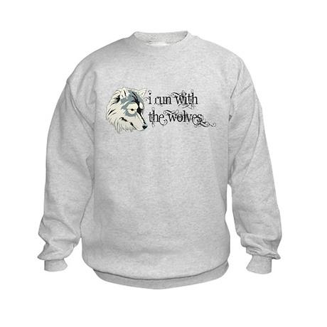 I Run With The Wolves Twilight Kids Sweatshirt