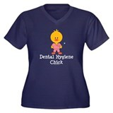 Dental Hygiene Chick Women's Plus Size V-Neck Dark