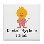 Dental Hygiene Chick Tile Coaster