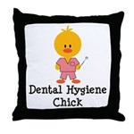 Dental Hygiene Chick Throw Pillow