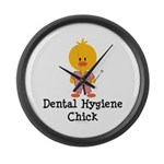 Dental Hygiene Chick Large Wall Clock