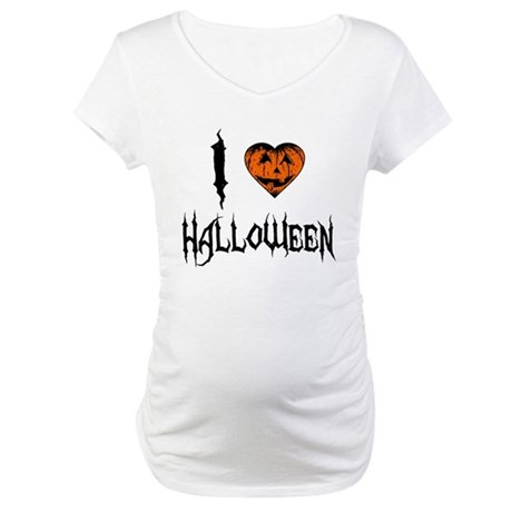 I Love Halloween Maternity T-Shirt
