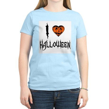 I Love Halloween Womens Light T-Shirt