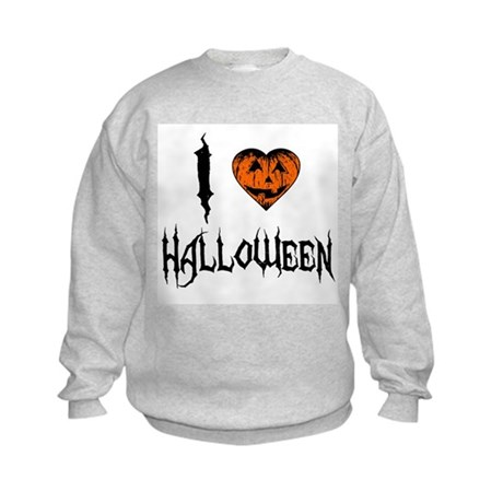 I Love Halloween Kids Sweatshirt
