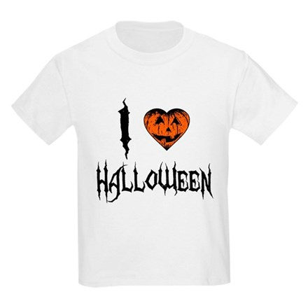 I Love Halloween Kids Light T-Shirt