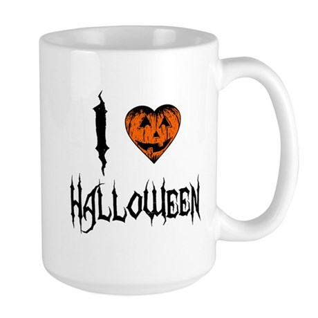 I Love Halloween Large Mug