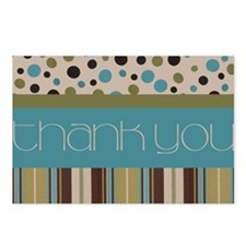 Thank You (Spots & Stripes) Postcards (Package of