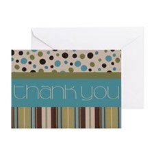 Thank You (Spots & Stripes) Greeting Card