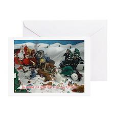 Cute Santa's elves Greeting Cards (Pk of 10)