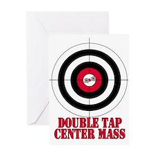 Bullseye Target Gun Safety Greeting Card