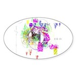 How we see space Oval Sticker (10 pk)