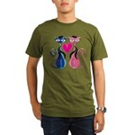 Kitty Love Organic Men's T-Shirt (dark)