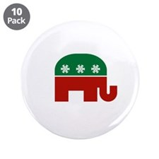 "GOP Christmas 3.5"" Button (10 pack)"