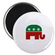 "GOP Christmas 2.25"" Magnet (100 pack)"