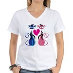 Kitty Love Women's V-Neck T-Shirt