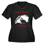 Land Rover Traitor Women's Plus Size V-Neck Dark T