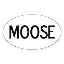 Moose - Euro Oval Decal