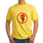 Rooster Circle Yellow T-Shirt