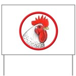 Rooster Circle Yard Sign
