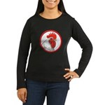 Rooster Circle Women's Long Sleeve Dark T-Shirt