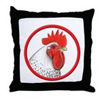 Rooster Circle Throw Pillow