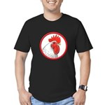 Rooster Circle Men's Fitted T-Shirt (dark)