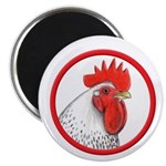 Rooster Circle Magnet