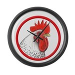 Rooster Circle Large Wall Clock