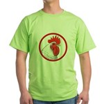 Rooster Circle Green T-Shirt