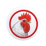 "Rooster Circle 3.5"" Button (100 pack)"
