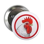 "Rooster Circle 2.25"" Button (100 pack)"